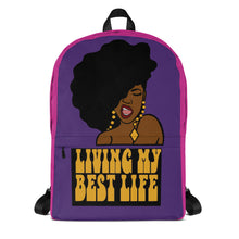 """Living My Best Life"" Backpack (Purple)"