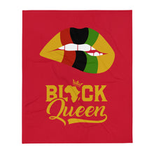 """Black Queen"" Throw Blanket"