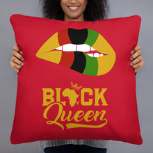 """Black Queen"" Decorative Pillow"