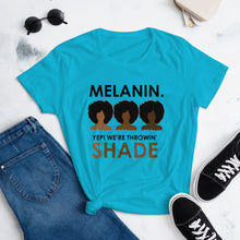 """Melanin"" Women's short sleeve t-shirt"