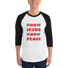 """Know Jesus"" 3/4 Sleeve Unisex Shirt"