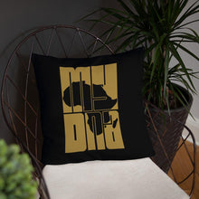 """ My DNA"" Decorative Pillow (Black)"