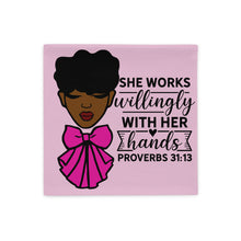 """She Works"" Pillow Case"