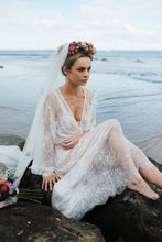 White lace bridal dress