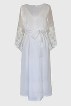 Lace Sleeve Bridal Robe Maxi