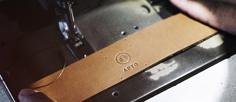 apto logo embossing on leather