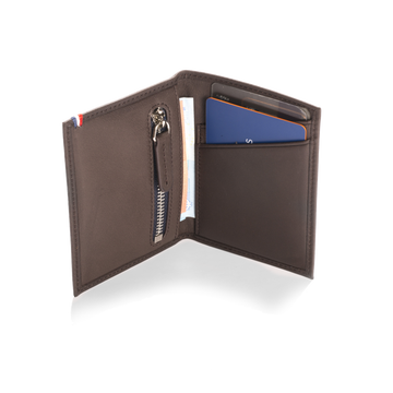 Instant card holder - Dark brown - Apto