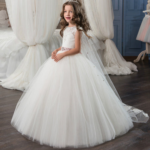 2017 new flower girl dresses white and ivory ball gown o neck 2017 new flower girl dresses white and ivory ball gown o neck sleeveless lace up mightylinksfo