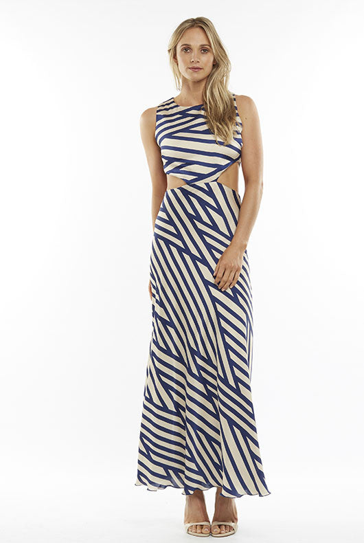 Stripe Cut Out Maxi
