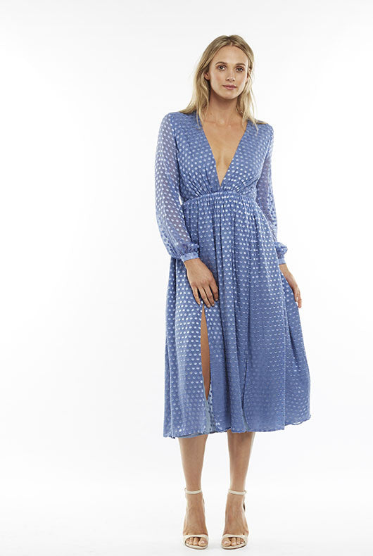 Periwinkle Polka Dot Dress