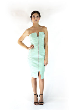 Mint Leather Dress