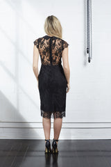 French Lace Dress with Collar