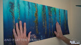 """Afternoon Rays"" 30X80 Peel and Stick Fabric"