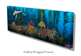 """San Clemente Sea Lions"" 26X70 Canvas"