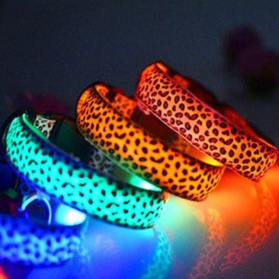 Luxury Leopard LED Collar