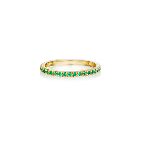 Green Emerald Eternity Band
