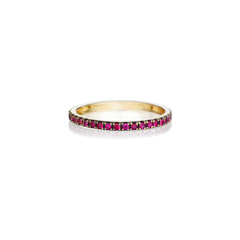 Red Ruby Eternity Band