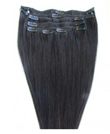 Malaysian Straight Clip'In Extensions - M Hair Collection