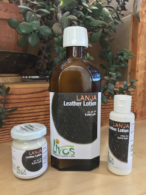 leather lotion - lanja by livos