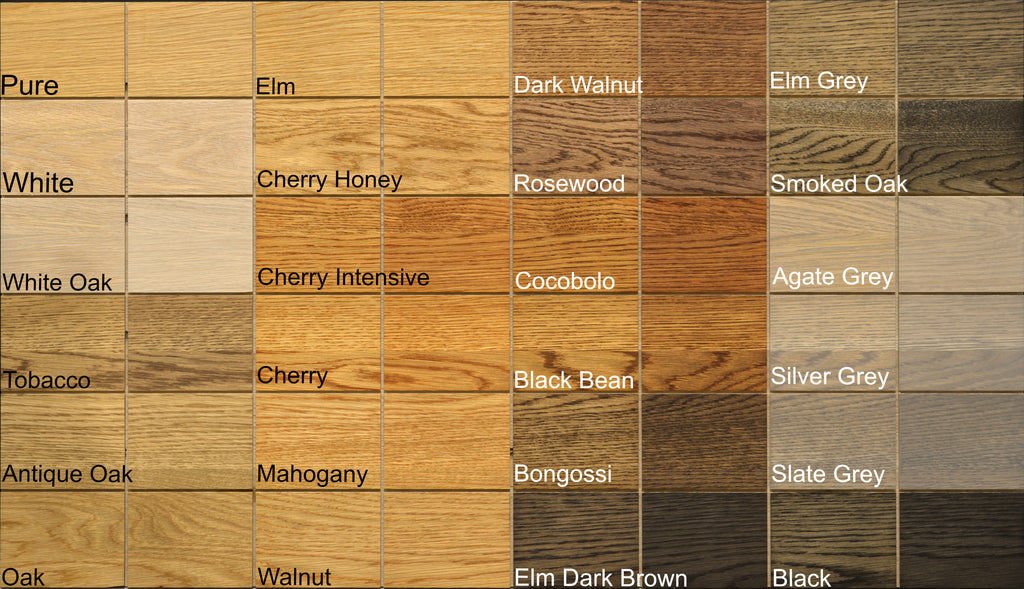 livos kunos wood sealer color chart