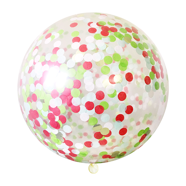 "Confetti Balloon - 36"" - Christmas"