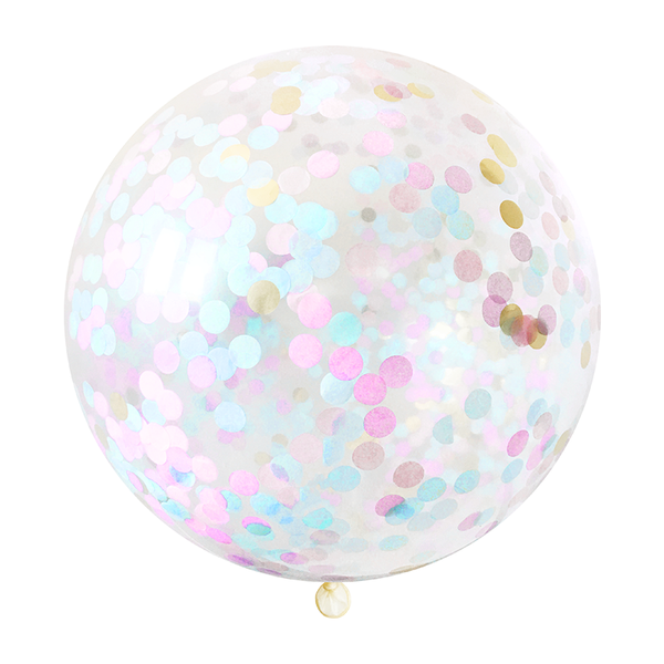 "Confetti Balloon - 36"" - Gender Reveal"