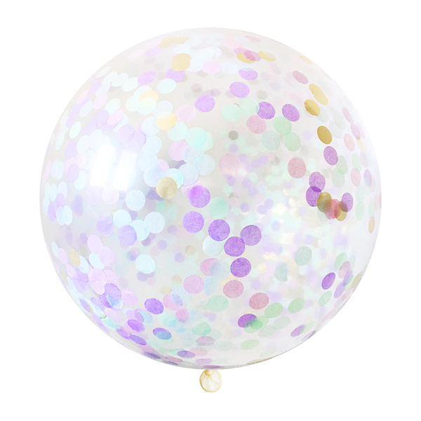 "Confetti Balloon - 36"" - Mermaid"