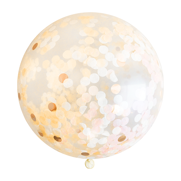 "Confetti Balloon - 36"" - Peach"