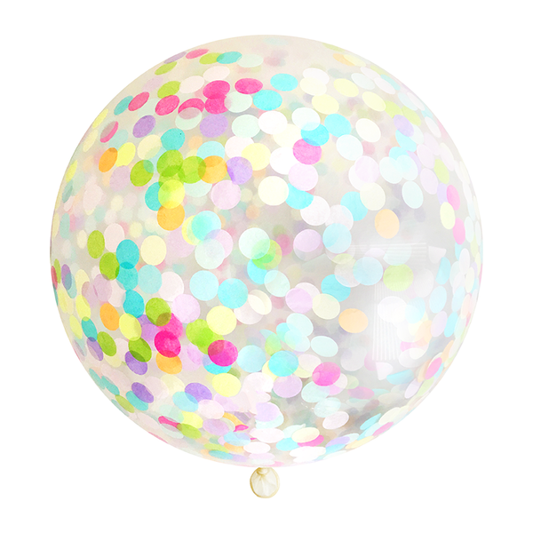 "Confetti Balloon - 36"" - Rainbow"