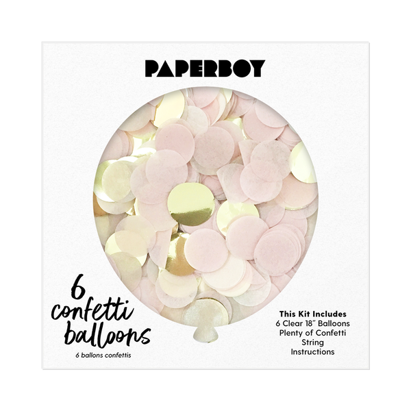 "Confetti Balloon Kit - 18"" - Blush Pink & Gold"