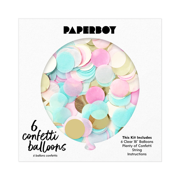 "Confetti Balloon Kit - 18"" - Gender Reveal"