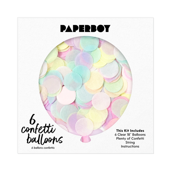 "Confetti Balloon Kit - 18"" - Pastel Rainbow"