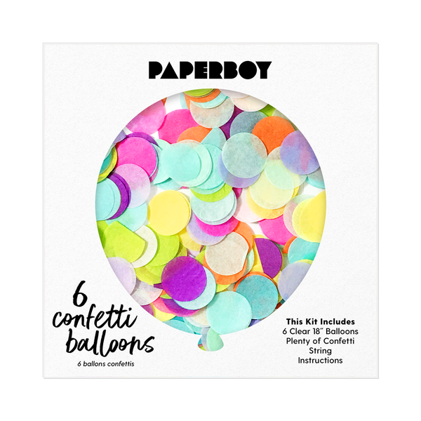 "Confetti Balloon Kit - 18"" - Rainbow"
