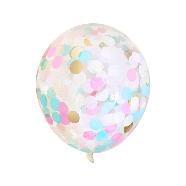 Bulk Confetti Balloons - Gender Reveal