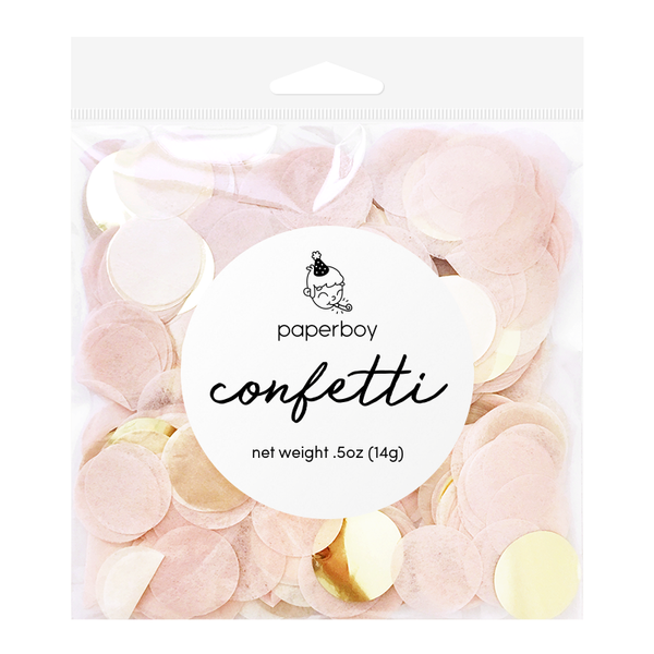 Confetti - 1/2 oz - Blush Pink & Gold
