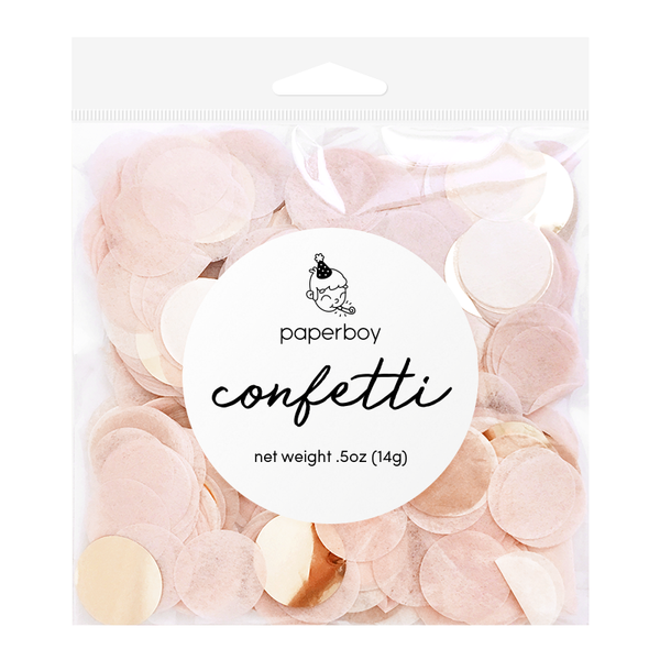 Confetti - 1/2 oz - Blush Pink & Rose Gold
