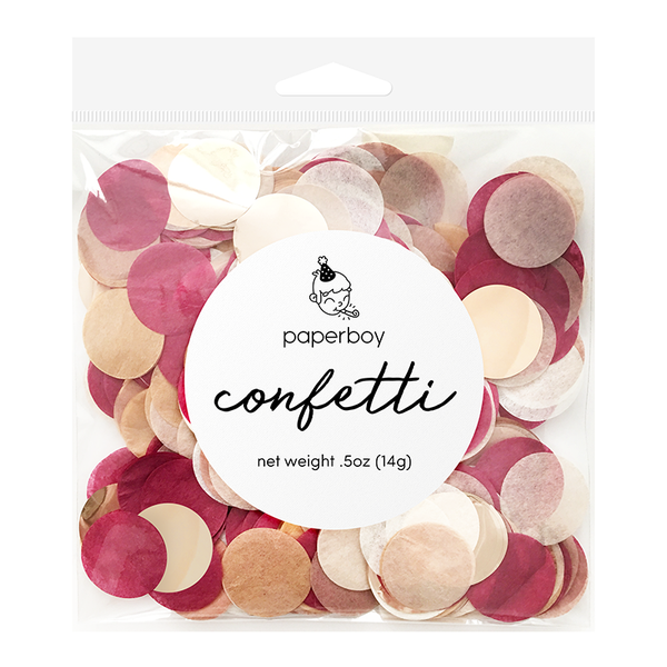 Confetti - 1/2 oz - Burgundy & Rose Gold
