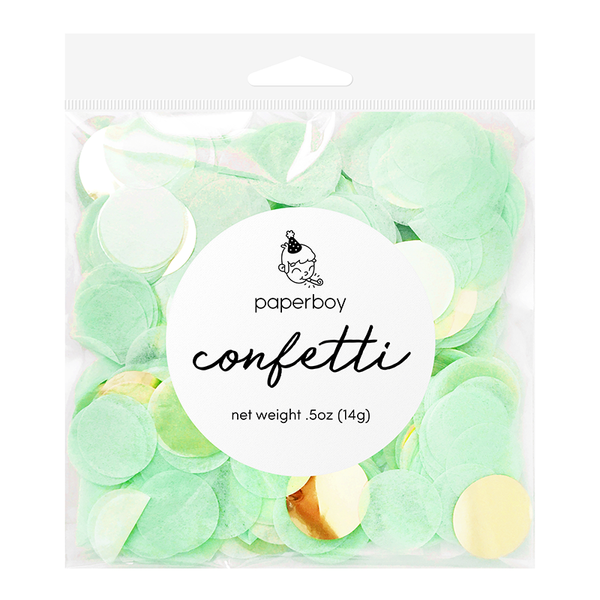Confetti - 1/2 oz - Mint & Gold