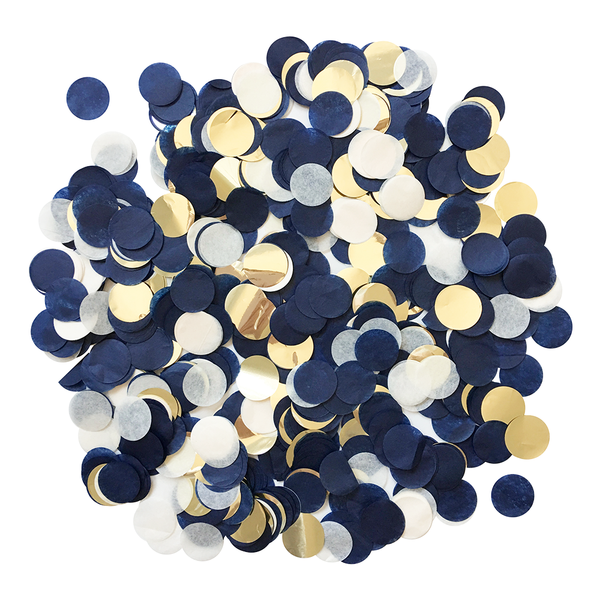 Confetti Bulk Bag - Navy & Gold