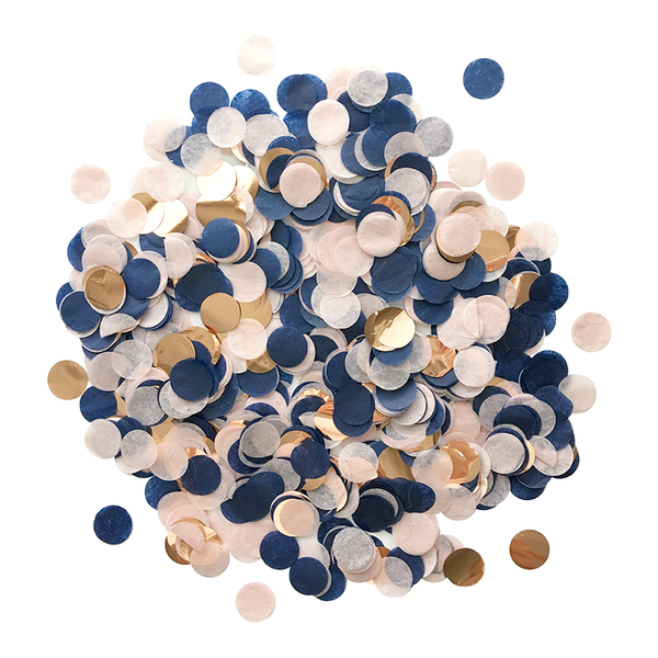 Confetti Bulk Bag - Navy, Blush, & Rose Gold
