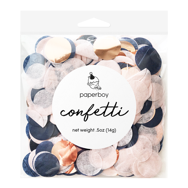 Confetti - 1/2 oz - Navy, Blush, & Rose Gold