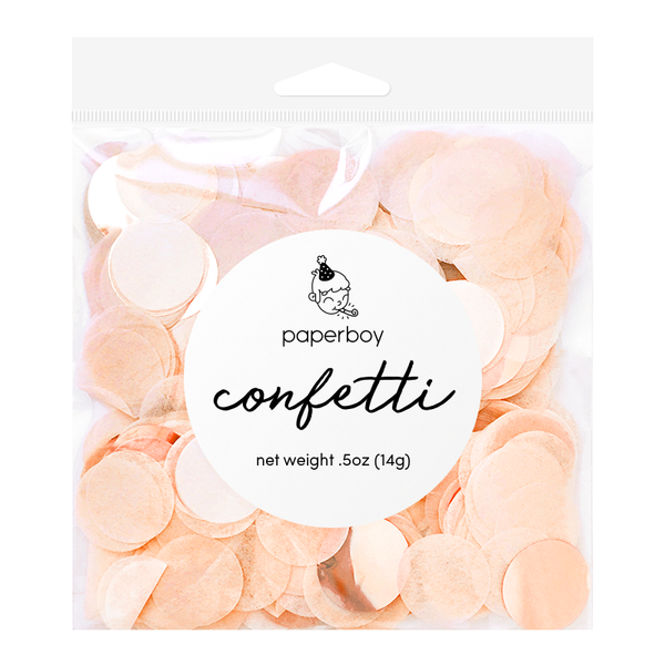 Confetti - 1/2 oz - Peach & Rose Gold