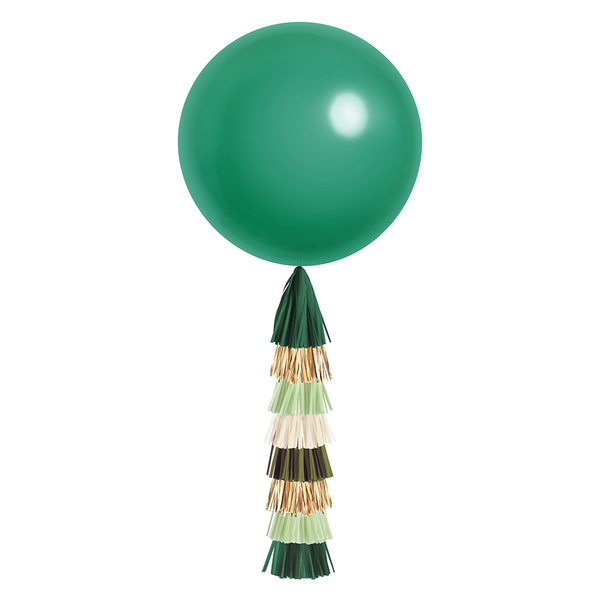 Giant Balloon with DIY Tassels - Emerald Green (Solid)