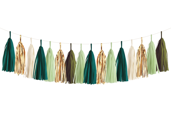 Tassel Garland DIY Kit - Emerald Green