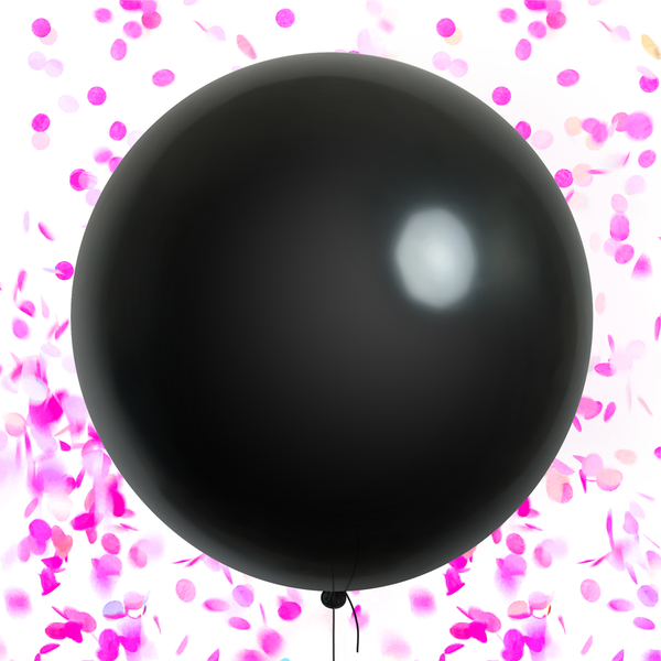 Gender Reveal Confetti Balloon - Pink (pre-filled)