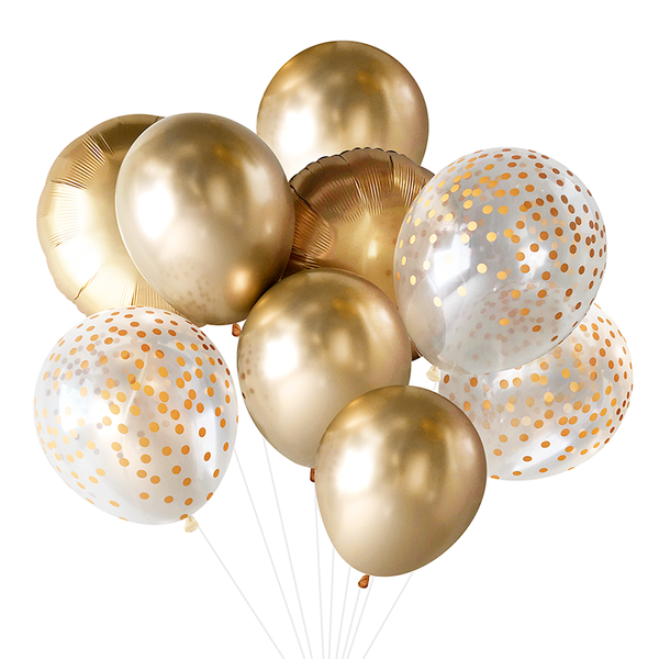 Balloon Bouquet - Gold
