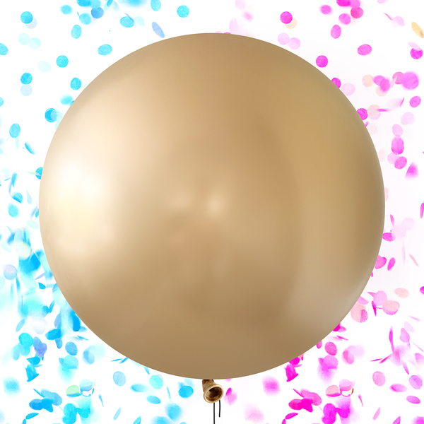 Gold Gender Reveal Confetti Balloon Kit - 24 inch