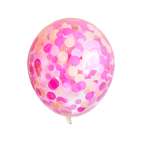 Bulk Confetti Balloons - Pink Party