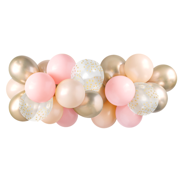 Balloon Garland - Pink & Gold - 5ft
