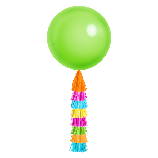 Giant Balloon with DIY Tassels - Fiesta (Solid)